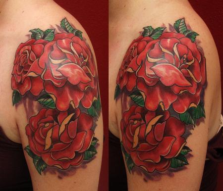Robert Hendrickson - Roses tattoo